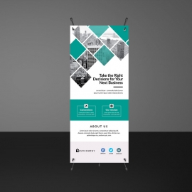 Paste Accent Simple Rollup Banner