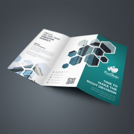 Paste Accent TriFold Brochure With Hexagon