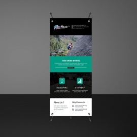 Paste And Black Accent Rollup Banner