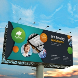 Paste Black Billboard Banner With Cricle