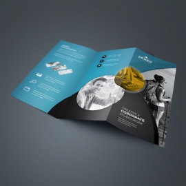Paste & Black TriFold Brochure With Cricle