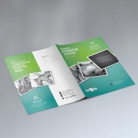 Paste Green Business Presentation Folder With Rhombus