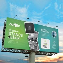 Patse Green Billboard Banner With Rhombus
