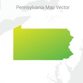 Pennsylvania Map By Gradient Color Vector Design