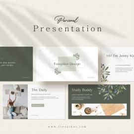 Personal Presentation Canva Template
