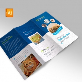 Pets Care Clean Trifold Brochure