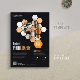 Photography Flyer With Black Accent