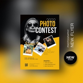 Photography Flyer With Black And Yellow Accent