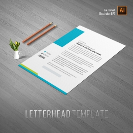 Photography Letterhead With Blue Accent
