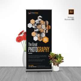 Photography Rollup Banner With Black Accent