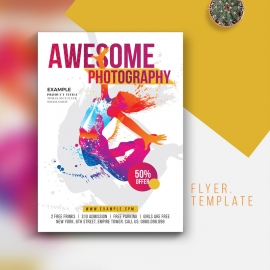 Phtography Flyer & Poster With Colorful