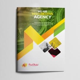 Pixel Brand Bifold Brochure