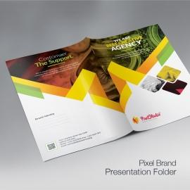 Pixel Brand Presentation Folder