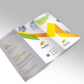 Pixel Brand Trifold Brochure