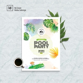 Pool Party Poster & Flyer Design