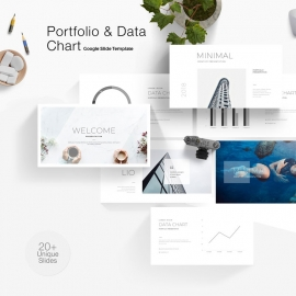 Portfolio & Data Chart Google Slide Template