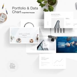 Portfolio & Data Chart Google Slide Template