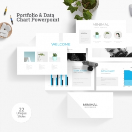 Portfolio & Data Chart Powerpoint Template