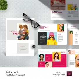 Portfolio Minimal Project Proposal With Red Accent