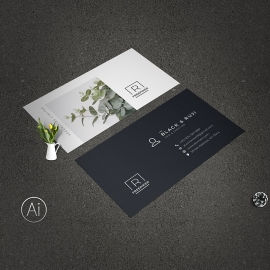 Portrait Business Card Template