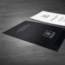 Portrait Minimal Business Card Template