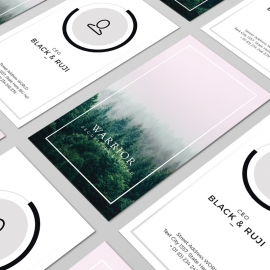Portrait Minimal Clean Business Card Template