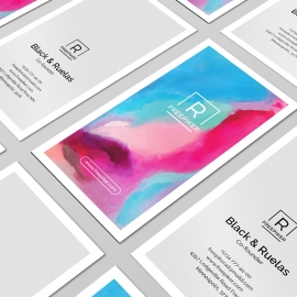 Portrait Minimal Creative Colorful Business Card