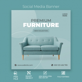 Premium Furniture Social Media Template