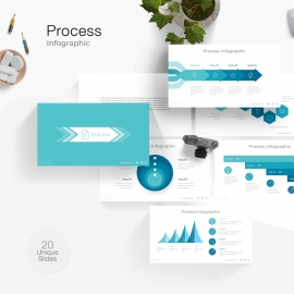 Process Info-graphic PowerPoint Template