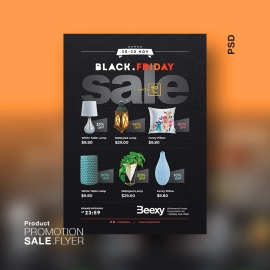 Product Promotion Sale Flyer for Black Friday