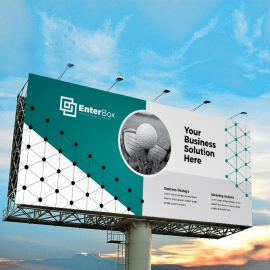 Professional Business Billboard Banner With Paste Accent