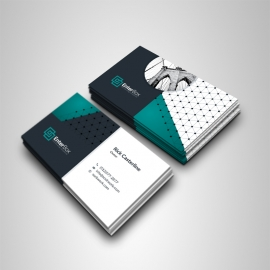 Professional Business Card With Paste Accent