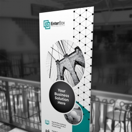 Professional Business Rollup Banner With Paste Accent