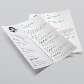 Professional Clean Resume 3 Pages Design