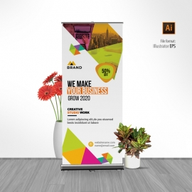 Professional Rollup Banner With Triangle