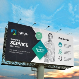 Professional Services Billboard Banner With Black Accent