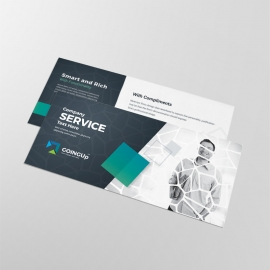 Professional Services Compliment Card With Black