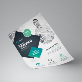 Professional Services Flyer With Black Accent
