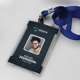 Professional Services Identity Card With Black