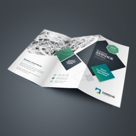 Professional Services TriFold Brochure With Rhombus