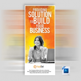 PSD Creative Rollup Banner For Business