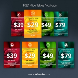 PSD Price Tables Mockup