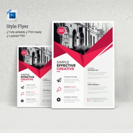 Psd Style Flyer Template