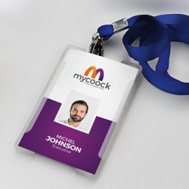 Purple Accent Business Identity Card