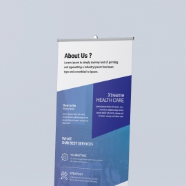 Purple Accent Business Rollup Banners Template