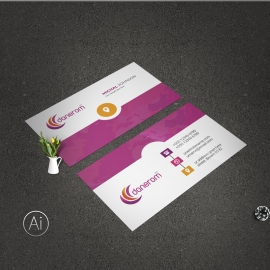 Purple Accent BusinessCard