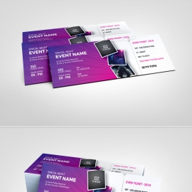 Purple Accent Event Ticket