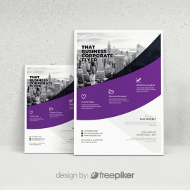 Purple Accent Flyer Template