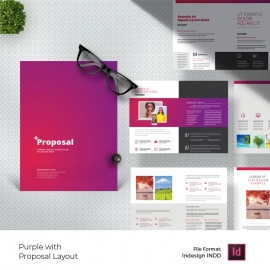 Purple Accent Minimal Creative Proposal Layout