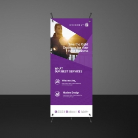 Purple Accent Rollup Template